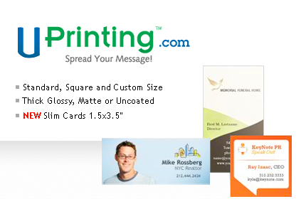 Winners of the UPrinting Give Away: 1000 Free Business Cards and Canvas Print