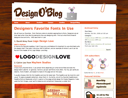 Mayhem Studios Contributes To Article: Designers Favorite Fonts In Use