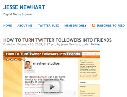 Mayhem Studios Featured in Video: How To Turn Twitter Followers into Friends