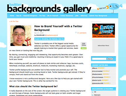 How to Brand Yourself with a Twitter Background