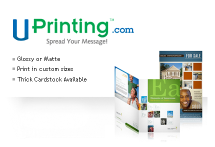 UPrinting Give Away: 500 Free Tri-fold Brochure Printing & Shipping